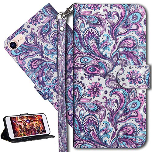 HMTECH iPhone SE Case 3D Peacock Flower PU Leather Wallet Flip Case with Kickstand Card Holder Bookstyle Magnetic Closure Cover for iPhone SE/iPhone 5 5S,Peacock Flower from HMTECH