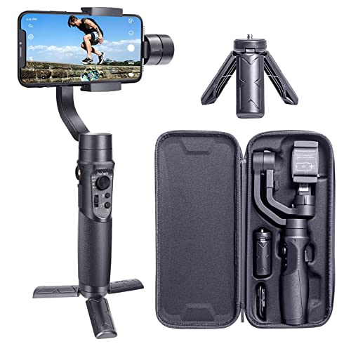 Hohem Smartphone Gimbal Stabilizer 3-Axis Handheld Gimble Stabiliser for iPhone XS/XS MAX/XR/X, HUAWEI P30/PRO/Mate20/PRO, Samsung S10/S10 Plus/Note 9(iSteady Mobile Plus, 2019 New Model) from hohem