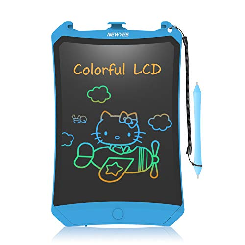 8.5 Inch LCD Writing Tablet - Colorful Writing - Can Prevent Deleted - Substitutes of Magnetic Drawing Board -All Age Uses - Gifts for Kids - Blue from NEWYES