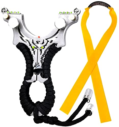HONGCI 304 Stainless Steel Outdoor Pro Positioning Hunting Catapult Toy (included: 304 Stainless Steel Hunting Slingshot + Quality Flat Rubber Bands) from HONGCI