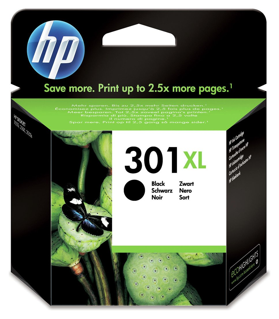 HP 301 CH563EE XL High Yield Black Original Ink Cartridge from HP