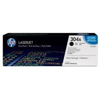 HP 304A Black Original Toner Cartridges - Dual Pack (CC530AD) from HP