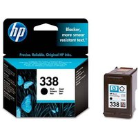 HP 338 Black Original Standard Capacity Inkjet Print Cartridge with Vivera Ink from HP