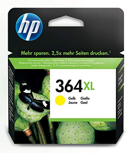 HP CB325EE 364XL High Yield Original Ink Cartridge, Yellow, Single Pack from HP