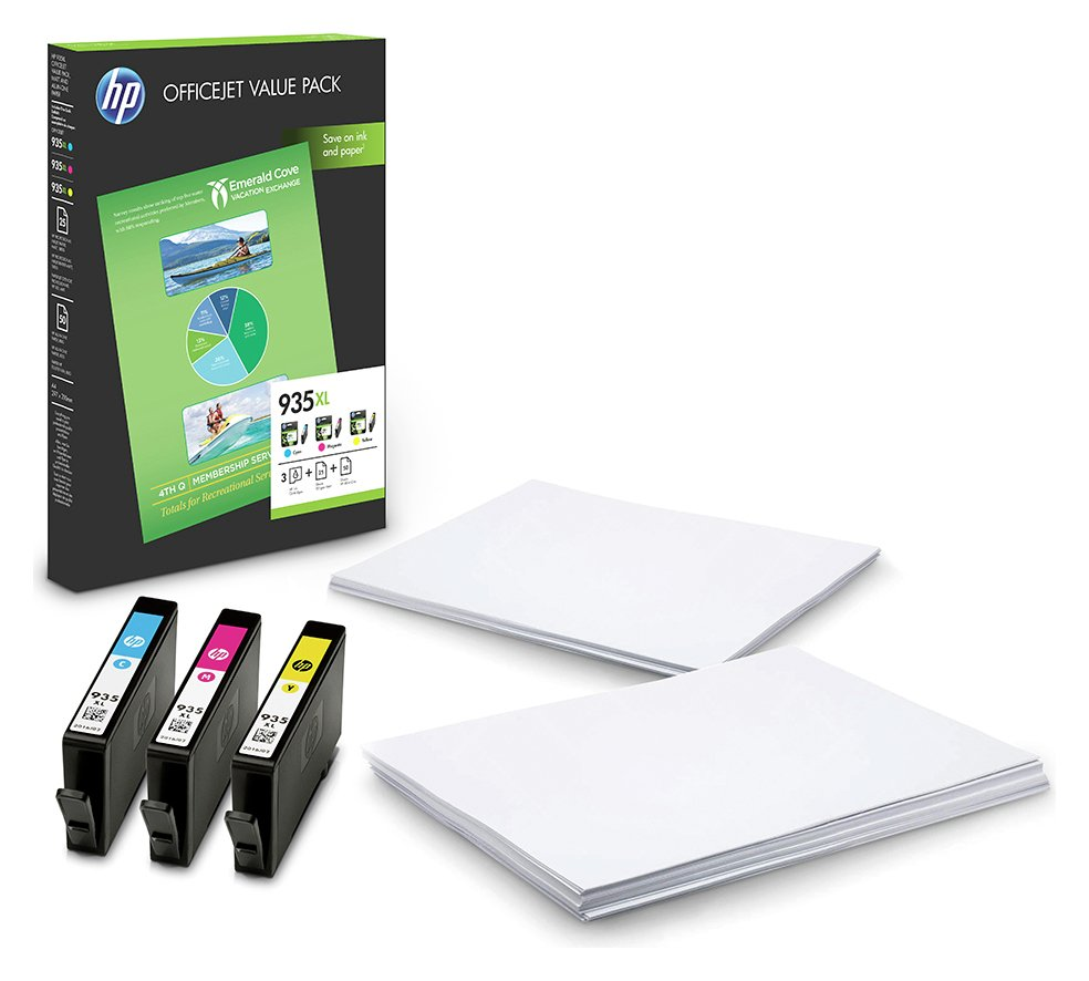 HP 935 Officejet XL Ink Cartridge and Paper Value Pack from HP