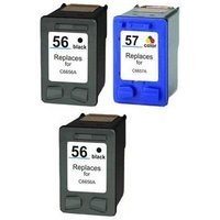 Compatible Multipack HP DeskJet 450c Printer Ink Cartridges (3 Pack) -HP-2R-56/57_4282 from Printerinks