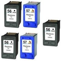 Compatible Multipack HP DeskJet 5655 Printer Ink Cartridges (5 Pack) -HP-3R-56/57_4319 from Printerinks
