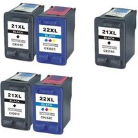 Compatible Multipack HP DeskJet F4194 Printer Ink Cartridges (5 Pack) -HP-3R-21XL/22XL/FP_10835 from Printerinks