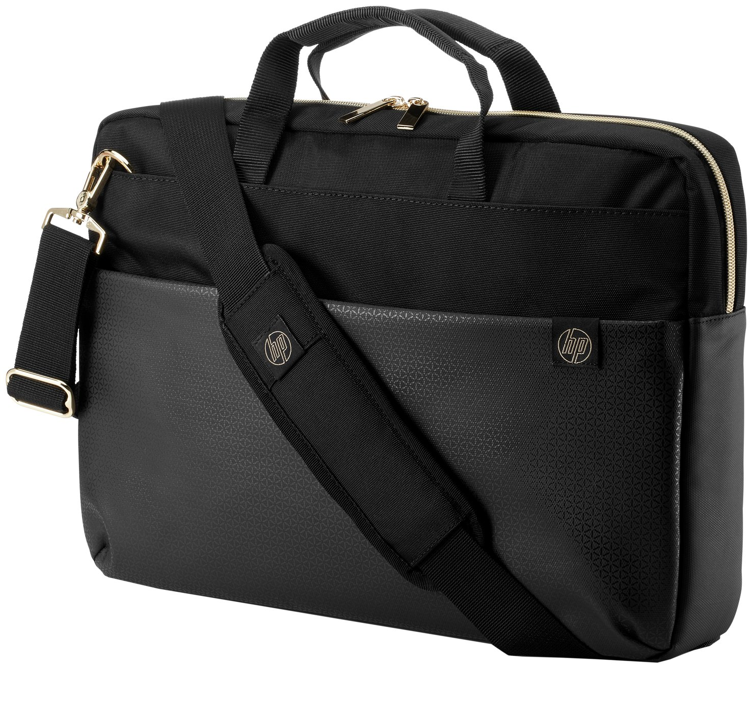 HP Duotone 15.6 Inch Laptop Briefcase - Gold and Black from HP