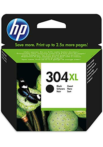 HP N9K08AE 304XL High Yield Original Ink Cartridge, Black, Single Pack from HP