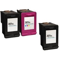Compatible Multipack HP OfficeJet 4636 Printer Ink Cartridges (3 Pack) -HP-CB2R-301XL_15204 from Printerinks