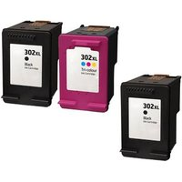 Compatible Multipack HP OfficeJet 4657 All-in-One Printer Ink Cartridges (3 Pack) -HP-2R-302XLBK/CL_15391 from Printerinks