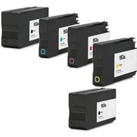 Compatible Multipack HP OfficeJet Pro 8725 All-in-One Printer Ink Cartridges (5 Pack) -HP-2R-953XLBK/953XLCMY/FP_14945 from Printerinks