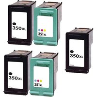 Compatible Multipack HP PhotoSmart C5283 Printer Ink Cartridges (5 Pack) -HP-3R-350XL/351XL_8409 from Printerinks
