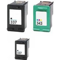 Compatible Multipack HP Photosmart D5163 Printer Ink Cartridges (3 Pack) -HP-2R-337/343/FP_12761 from Printerinks