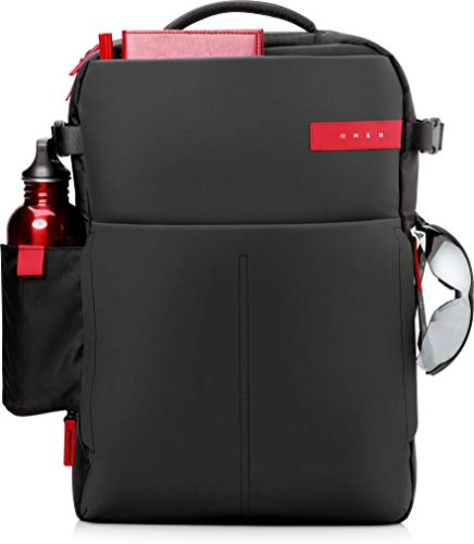 HP Omen Black/Red Gaming Backpack Water Resistant for Up to 17.3 Inch (43.9 cm) Laptop/Chromebook/Mac from HP