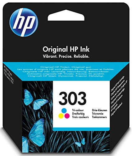 HP T6N01AE 303 Original Ink Cartridge, Tri-Colour, Pack of 1 from HP