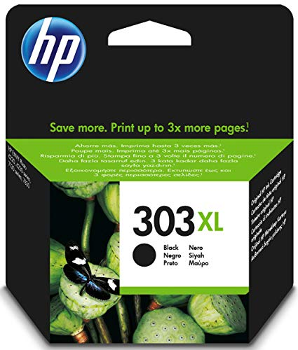 HP T6N04AE 303XL High Yield Original Ink Cartridge, Black, Pack of 1 from HP