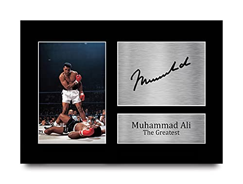 HWC Trading Muhammad Ali Gift Signed A4 Printed Autograph Boxing Gifts Print Photo Picture Display from HWC Trading