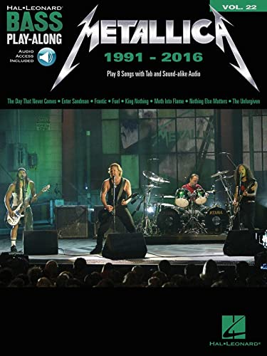 Bass Play-Along Volume 22: Metallica 1991-2016 (Book/Online Audio) (Hal Leonard Bass Play-along) from Hal Leonard