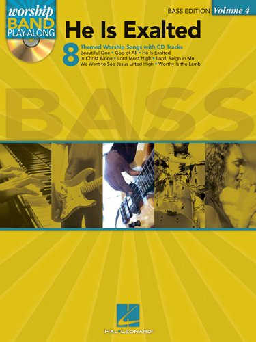 Worship Band Play-Along Volume 4 He Is Exalted Bass Guitar Tab Bk/Cd from Hal Leonard