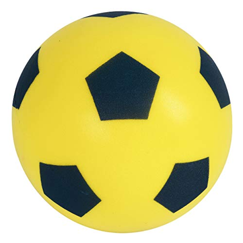 HTI Toys & Games Fun Sport Size 5 Yellow Football | Indoor/Outdoor Soft Sponge Foam Soccer Ball Great Fun For Adults And Kids Boys & Girls from HTI