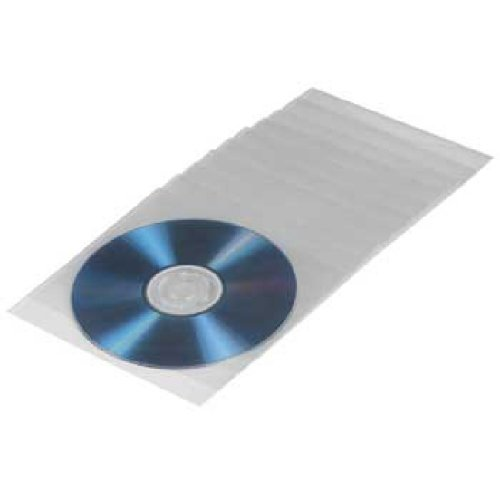 100 Hama Sealable CD/DVD Transparent Protective Sleeves from Hama