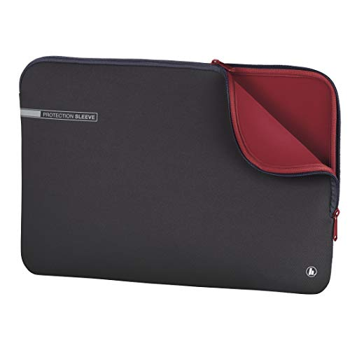 Hama 00101549 13.3-Inch Soft Protective Laptop Sleeve - Grey/Red from Hama