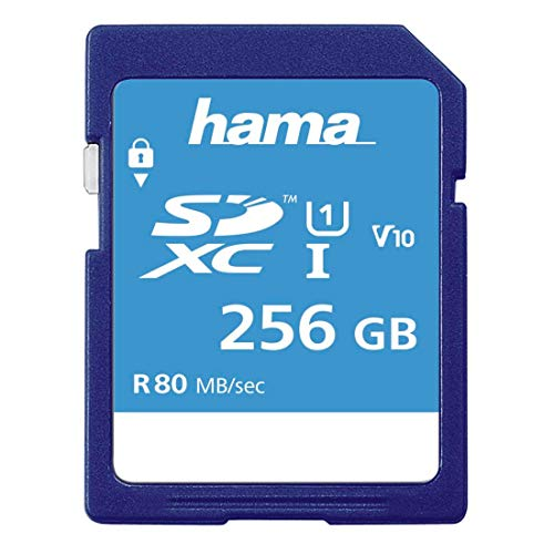 Hama 00123997 SDXC 256 GB UHS-I Class1 C10 533X/ 80MB/S Incredibly Fast Memory Card from Hama