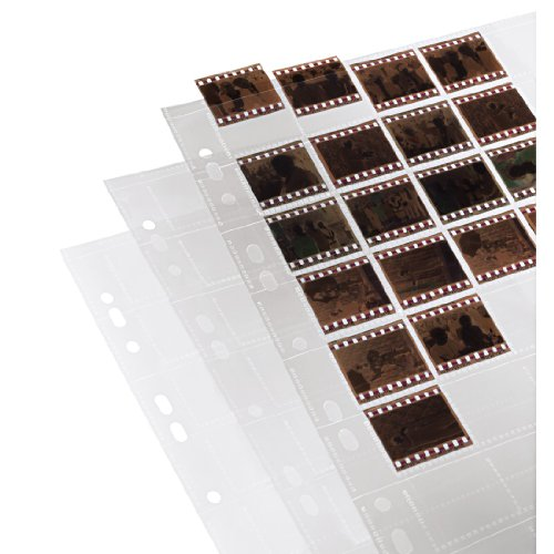 Hama | Negative/Unmounted Slide File Storage Sleeves, each holding 40 single 24 x 36 mm Frames, Polypropylene | Pack of 25 from Hama