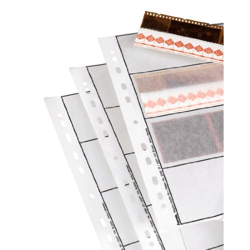Hama 2256 Negative File Storage Sleeves, each holding 4 strips of 4 (24 x 36 mm) Frames, Glassine (Pack of 25) from Hama