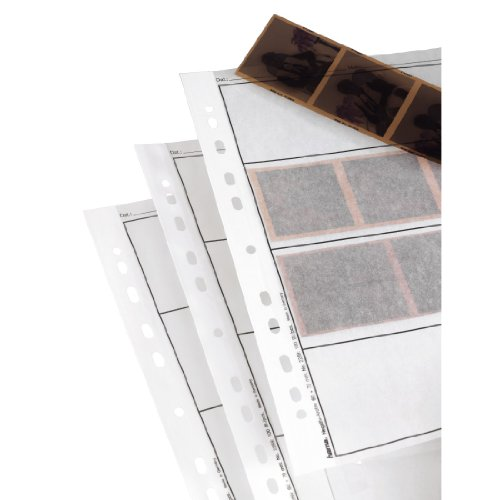 Hama 2259 Negative File Storage Sleeves, each holding 4 strips of 6 x 7 cm or 6 x 9cm Frames, Glassine (Pack of 100) from Hama