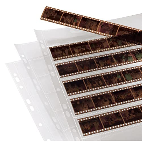 Hama | Negative File Storage Sleeves | each holding 7 Strips of 6 (24 x 36 mm) Frames | Pack of 100 from Hama