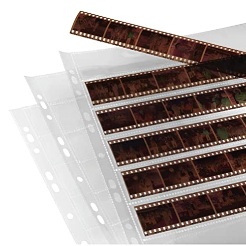 Hama | Negative File Storage Sleeves | each holding 7 Strips of 6 (24 x 36 mm) Frames, Polypropylene | Pack of 25 from Hama