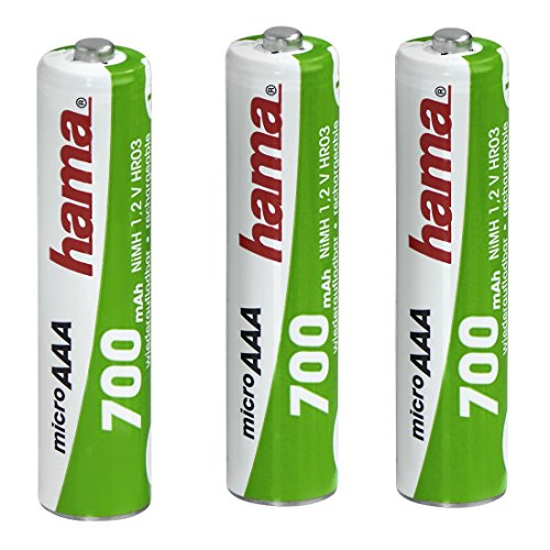 Hama NiMH Rechargeable Batteries 3x AAA 700 mAh 1.2V from Hama