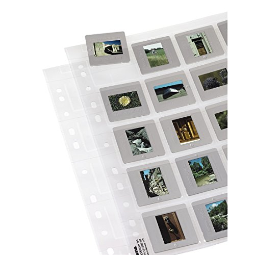 Hama Slide Storage Sleeves, each holding 20 Mounted Slides 5 x 5 cm (Pack of 25) from Hama