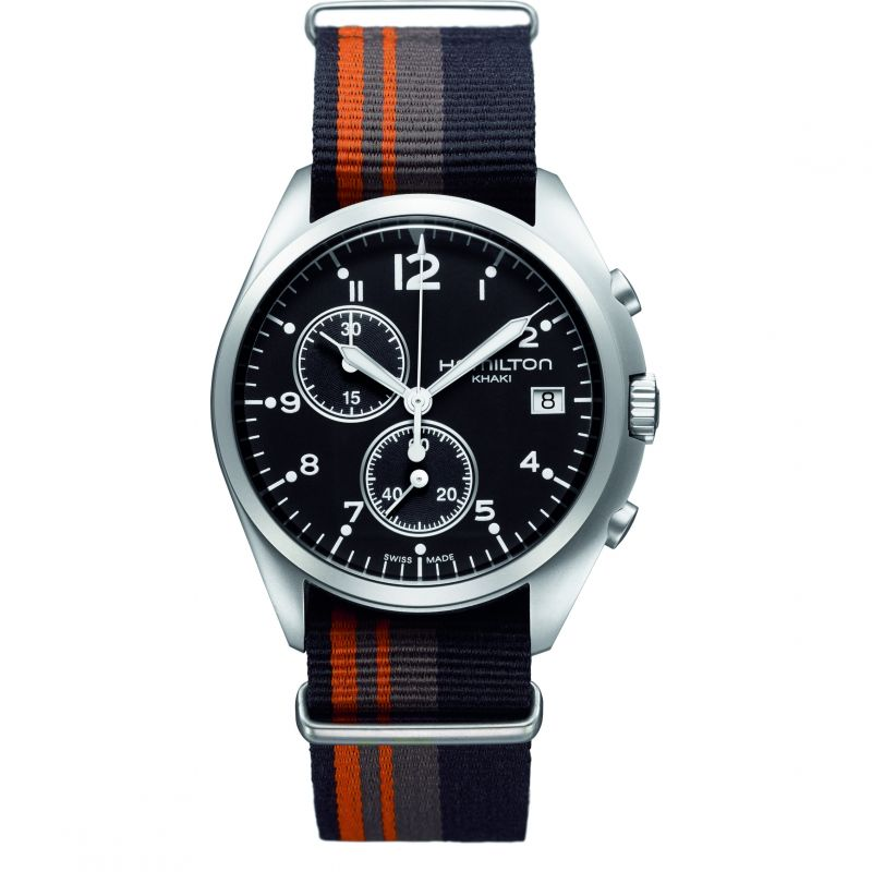 Mens Hamilton Khaki Pilot Pioneer Chronograph Watch from Hamilton