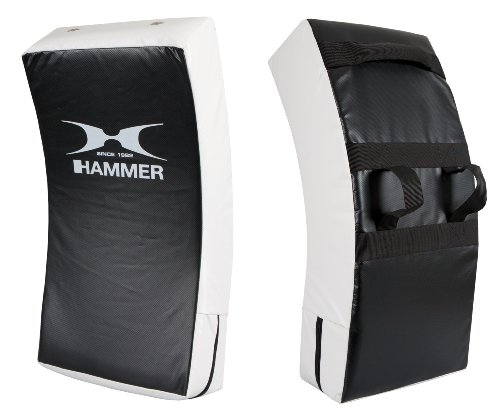 Hammer Boxing Forearm Shield PVC Curved Punch Pad - Black/White from Hammer Boxing
