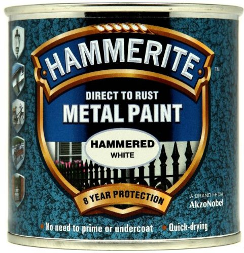 Hammerite 5084836 Metal Paint: Hammered White 250ml from Hammerite