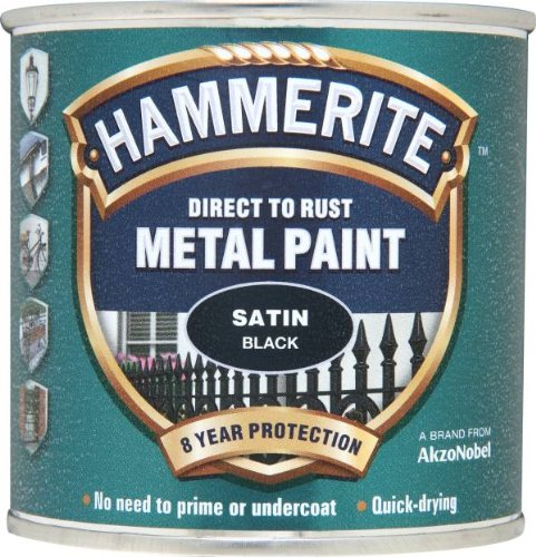 Hammerite 5084904 Metal Paint: Satin Black 250ml from Hammerite