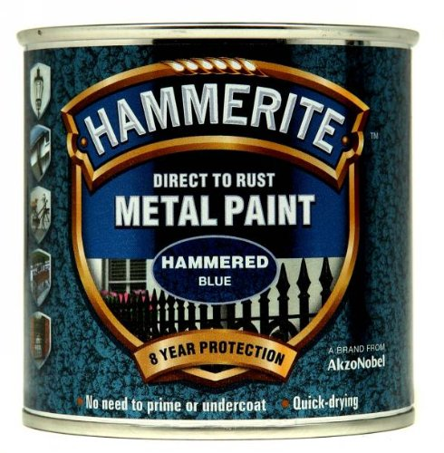 Hammerite 5092936 Metal Paint: Hammered Blue 250ml from Hammerite