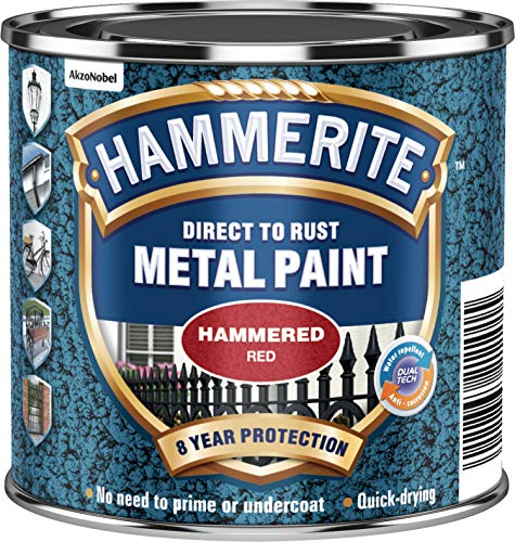 Hammerite 5092961 Metal Paint: Hammered Red 250ml from Hammerite