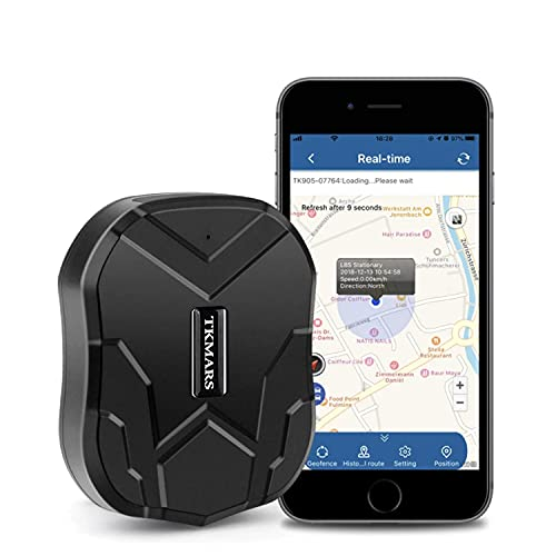 TKMARS GPS Tracker for Vehicles Waterproof Real-Time Anti-theft tracker 90-Days standby with strong Magnet from Hangang
