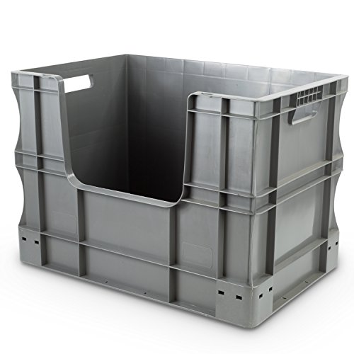 Hans Schourup Storage Euro Container with Window Sides, 600 x 400 x 430 mm, 90 22601033 L from Hans Schourup