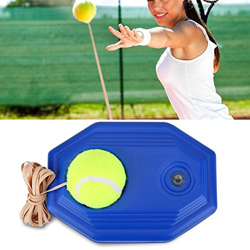 Haofy Tennis Ball Trainer, Self-study Practice Training Tool Equipment - Tennis Ball Back Base Trainer Set with Rubber Elastic Rope for Single Person Practice from Haofy
