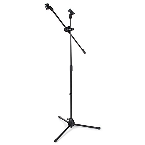 Microphone Stand Boom with Free Adjustable Clips from Hapilife