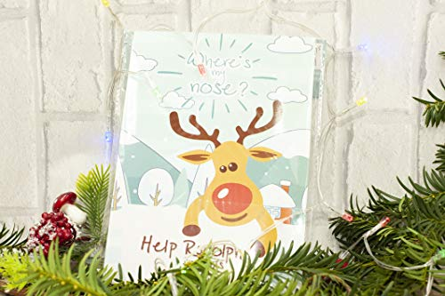 Happium - Party Christmas Game Pin the Nose on the Reindeer X 24 noses from Happium