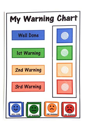 Happy Learners Children's Traffic Light Faces Behaviour Reward Chart / Warning Chart - Children-Toddlers-SEN-Autism-ADHD from Happy Learners