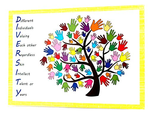 kids2learn DIVERSITY A4 Poster Sign Classroom Nursery Daycare Childminder from kids2learn