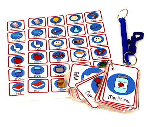 kids2learn Picture Word Communication Aid Flash Cards for adults dementia Alzheimer's autism adult from kids2learn
